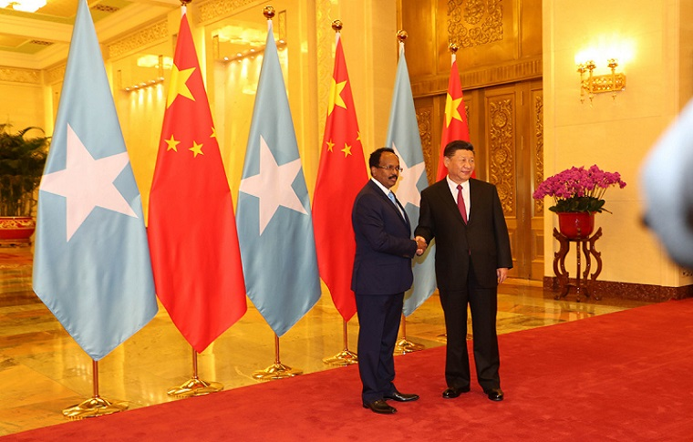 Somalia, President, holds talks with Chinese President Xi Jinping